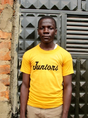 Simon Born: June 7th, 2000 Simon was born in Jinja district Namavundu village. His father was killed when he was knocked down by a speeding lorry when he was going for evening prayers at the church. Simon wants to be an engineer.